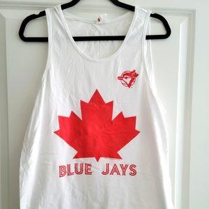 Mitchell & Ness Men's Toronto Blue Jays White Logo Tank Top